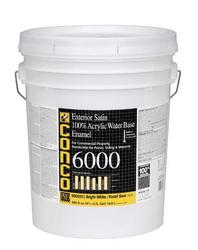 Conco 6000 Satin Bright White/Pastel Water-Based Exterior 100% Acrylic Enamel - 5 gal.