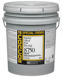 Conco 8750 Flat Interior Alkyd Dry Fall Paint - 5 gal.