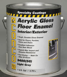 Conco 9400 Gloss Light Gray Interior/Exterior Acrylic Floor Enamel - 1 gal.