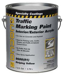 Conco 9600 Flat Yellow Water-Based Interior/Exterior Acrylic Traffic Marking Paint - 5 gal.