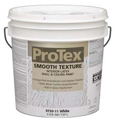 ProTex White Smooth Texture Interior Latex Wall & Ceiling Paint - 2 gal.