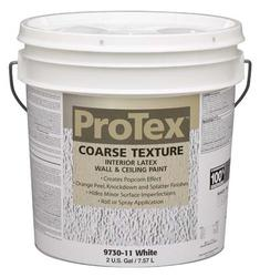 ProTex White Coarse Texture Interior Latex Wall & Ceiling Paint - 2 gal.