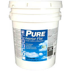 Conco PURE Flat Pure White/Pastel Interior Acrylic Wall & Ceiling Paint - 5 gal.