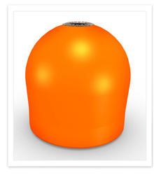 Conneticut Electric Aqua Lantern Solar Lighted Orange Marker Buoy