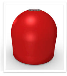 Conneticut Electric Aqua Lantern Solar Lighted Red Marker Buoy