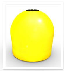 Conneticut Electric Aqua Lantern Solar Lighted Yellow Marker Buoy