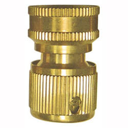 Yardworks® Female Brass Quick Connect Adapter with Auto Shut-Off