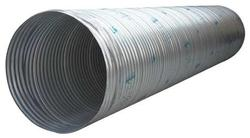 "24"" x 10' Hel-Cor Galvanized Corrugated Steel Pipe"