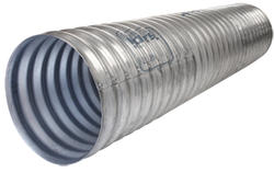 "21"" x 10' Riveted Galvanized Corrugated Steel Pipe"