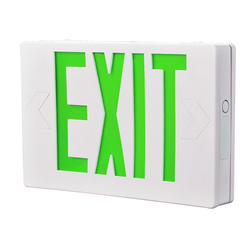 "All-Pro 12"" White/Green LED Exit Sign"