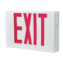 "All-Pro 12"" White/Red LED Self-Powered Exit Sign"
