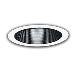 """All-Pro 4"""" White 1-Lamp Trim with Black Baffle"""