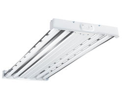 Metalux® 4' White 4-T5-Lamp  High Bay Light with Chrome Reflector