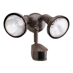 "Cooper Lighting 13"" 2-Lamp 270° Dual Head Motion-Activated Light"