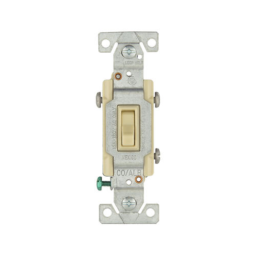 Shop Cooper Wiring Devices 15amp Ivory Single Pole Light Switch At