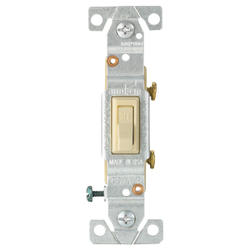 Switch Single Pole for Copper/Aluminum Wiring 15A 120V, Ivory