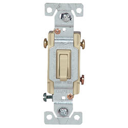 Switch 3 Way for Copper/Aluminum Wiring 15A 120V, Ivory
