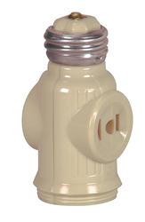 2-Outlet 1-Socket Adapter