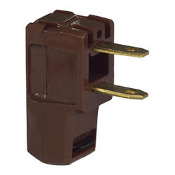 Brown Angle Polarized Plug, 15A 125V