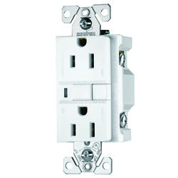 White 15A Ground Fault Circuit Interruptor