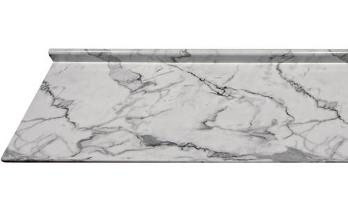 Countertop Edges Menards : ... Countertops? 6 ft. Calacatta Marble Aurora Edge Laminate Countertop