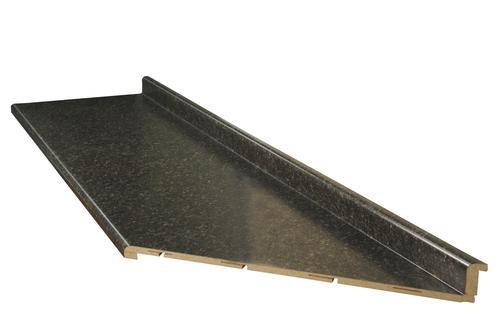 Countertop Edges Menards : CustomCraft Countertops? 6 ft. Gold Flake Granite Modern Edge Right ...