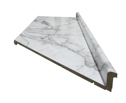 Countertop Edges Menards : CustomCraft Countertops? 6 ft. Calacatta Marble Aurora Edge Right ...