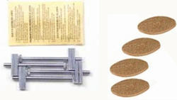 Countertop Miter Bolt Fasteners with Wood Miter Biscuits, 4-pkg.