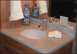 "25"" x 22"" Corinthian™ Solid Surface Vanity Top Integrated Bowl"