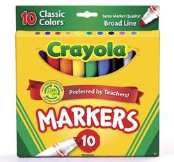 Crayola Markers 10 ct Classic BL