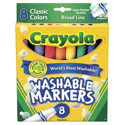 Crayola Markers 8 ct Washable BL