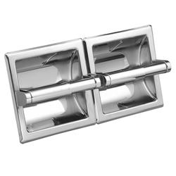 Moen Commercial Double Recessed Paper Holder, Chrome Roller