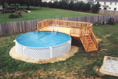 12 39 x 22 39 leisure pool deck building plans only at menards for Pool plans free