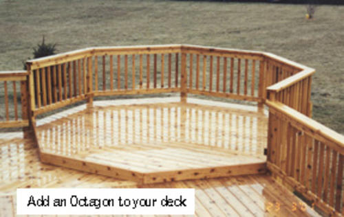 8 39 octagon deck building plans only at menards for Octagon deck plans free