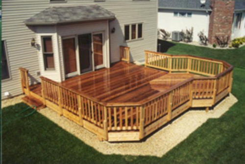 20 39 X 20 39 Deck With 10 39 Extension Building Plans Only At