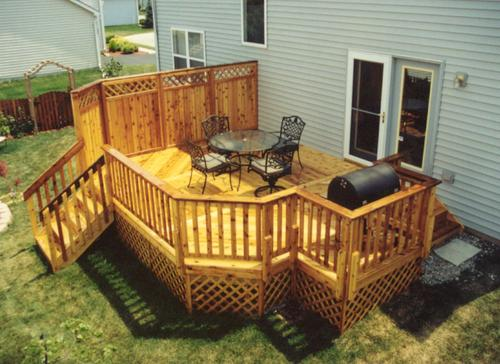 14 x 20 Deck with Grill Area Building Plans Only at