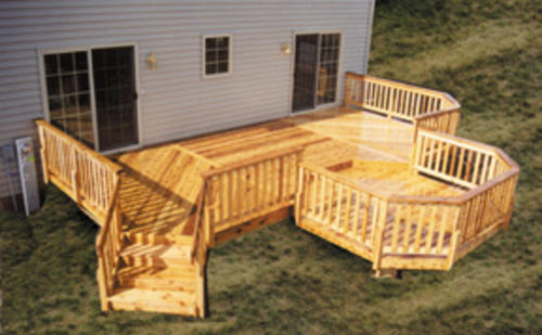 12 39 x 26 39 deck with 10 39 x 10 39 step down octagon building for 10 x 14 deck plans