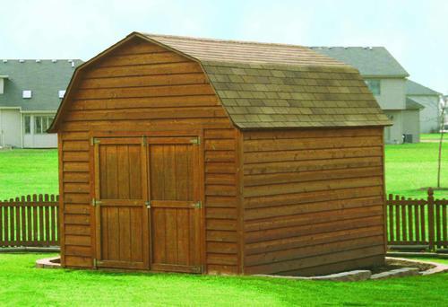 Gambrel shed building plans only at menards for Garden shed kits menards