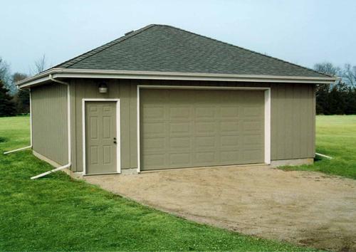 2 Car Hip Roof Garage Building Plans Only
