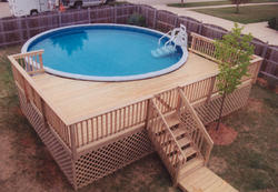 14' x 24' Pool Deck - Building Plans Only