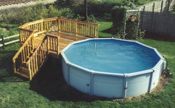 10' x 10' Pool Deck - Building Plans Only