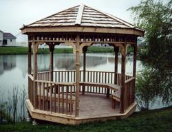 Open Bench Gazebo - Building Plans Only