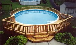 8' x 28' Sectional Pool Deck - Building Plans Only