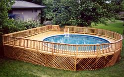 30' x 34' Semi-Round Deck for 24' Pool - Building Plans Only