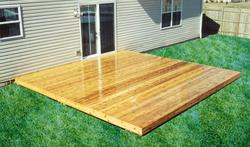 16' x 16' Patio-Style Deck - Building Plans Only
