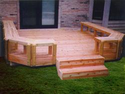 Butcher Block Bench Deck - Building Plans Only