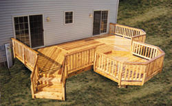 12' x 26' Deck with 10' x 10' Step-Down Octagon - Building Plans Only