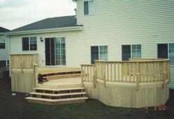 12' x 20' 2-Level Deck with Octagon - Building Plans Only