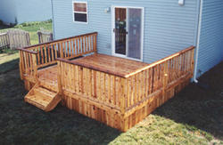 14' x 14' Deck with Solid Apron - Building Plans Only