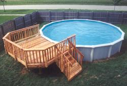 10' x 12' Deck for 21' Pool - Building Plans Only